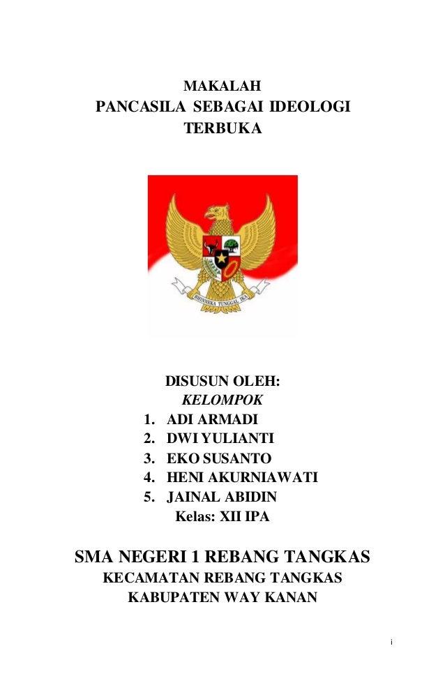 Makalah Pancasila Sebagai Ideologi Terbuka Republik Indonesia