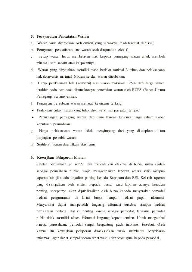 PASAR MODAL INDONESIA (Bursa Efek Indonesia)