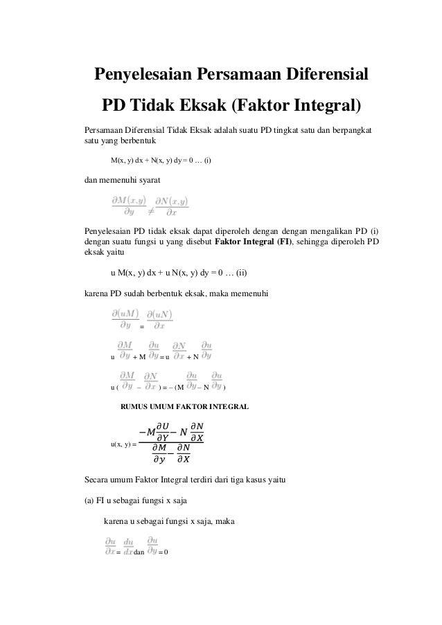 persamaan diferensial eksak