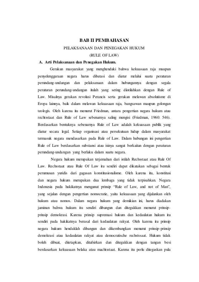 Doc Makalah Pkn Rule Of Law Dan Hak Asasi Manusia Roiqotunnada Ummah Academia Edu
