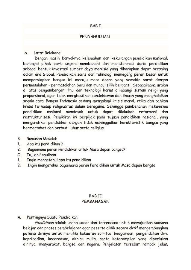 Makalah Tentang Pendidikan Di Indonesia Contoh Makalah
