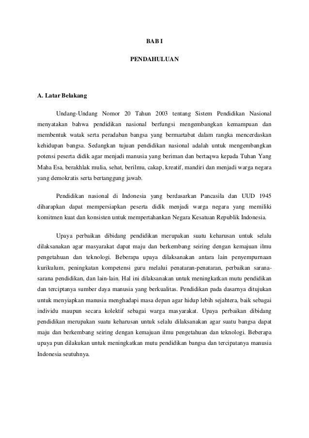 Contoh Makalah Sistem Pendidikan Di Indonesia