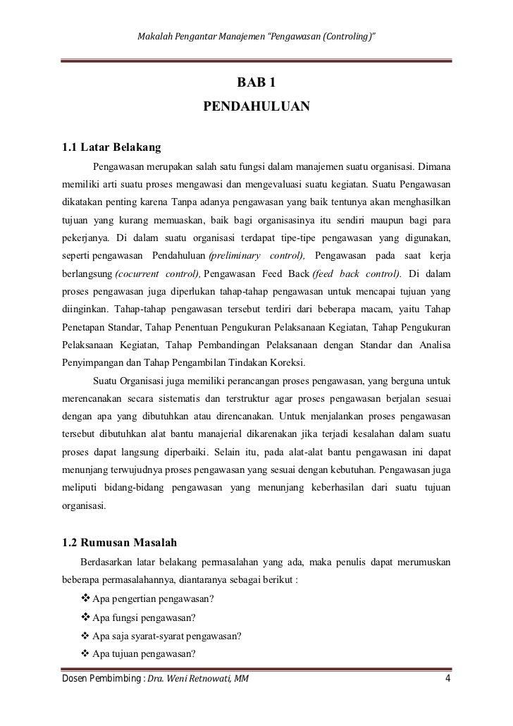 Makalah Pengantar Manajemen 2011
