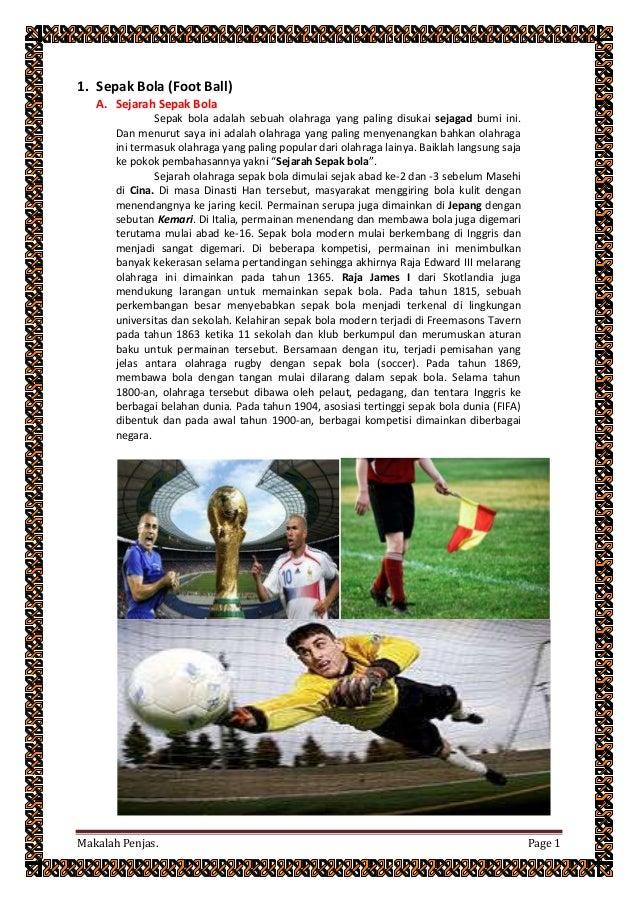 Makalah penjas tentang ukuran dan sejarah sepak bola ...