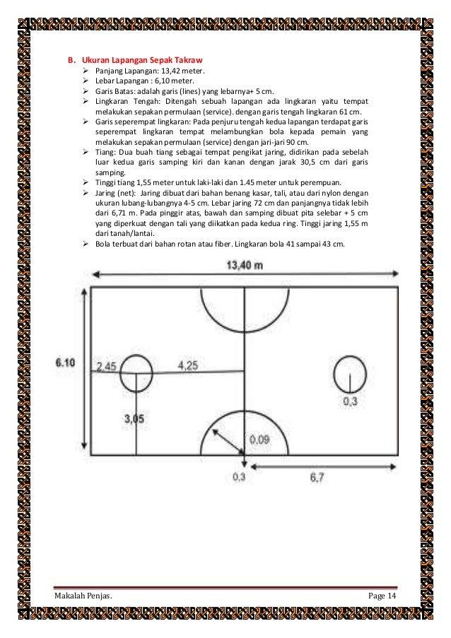 Makalah Penjas Tentang Ukuran Dan Sejarah Sepak Bola Basket Takraw