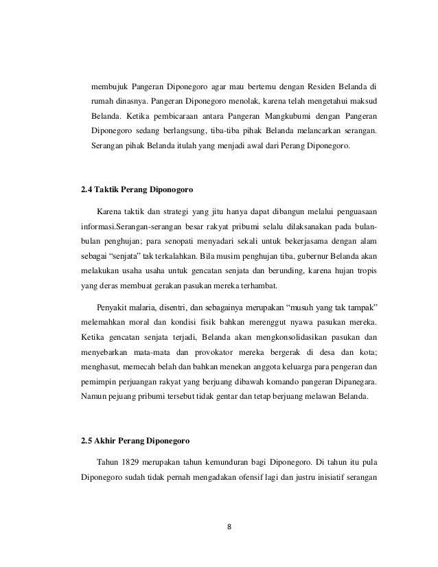 membujuk Pangeran Diponegoro agar mau bertemu dengan Residen Belanda di  rumah dinasnya. Pangeran Diponegoro menolak, kare...