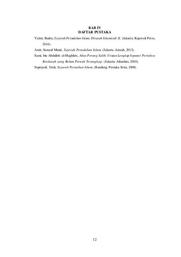 Sejarah Peradaban Islam Perang Salib