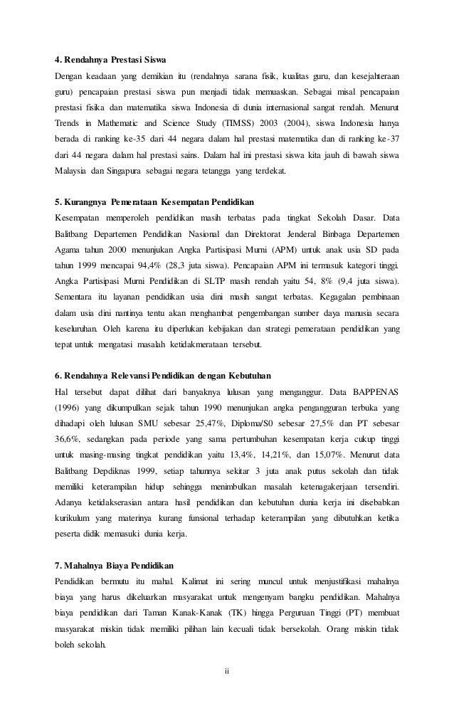 Makalah Permasalahan Pendidikan Di Indonesia Dan Solusinya