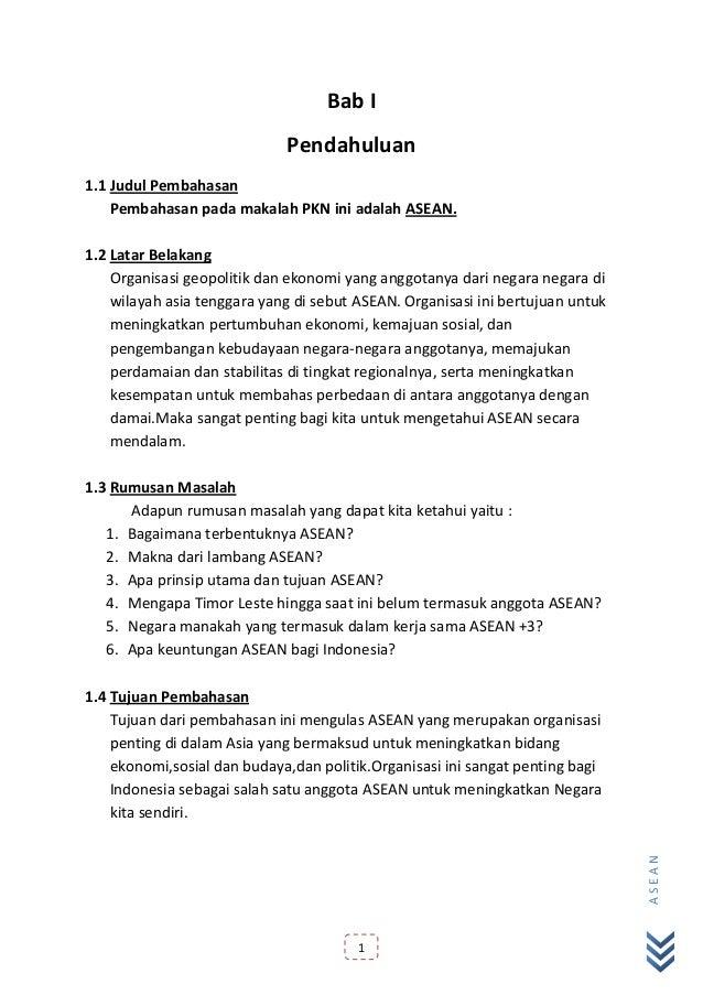 Makalah Ips Smp Kelas 8 Tentang Asean Contoh Makalah