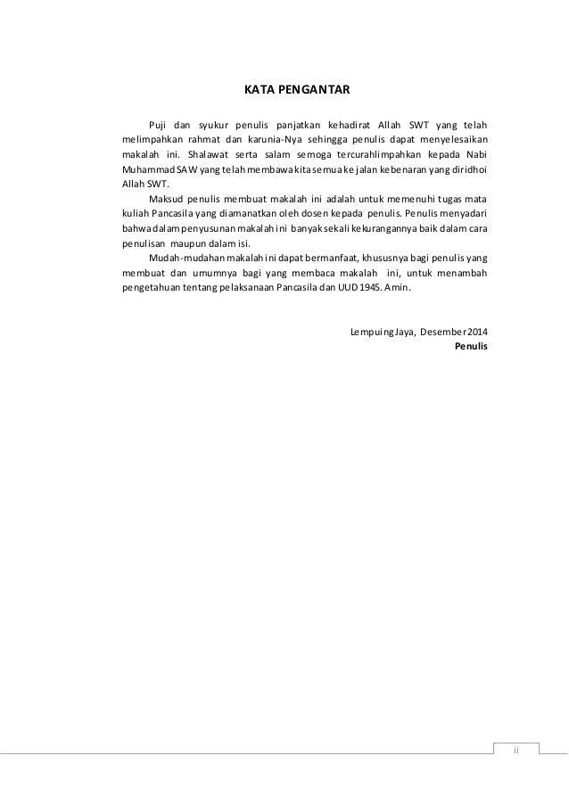 Contoh Surat Pengantar Makalah