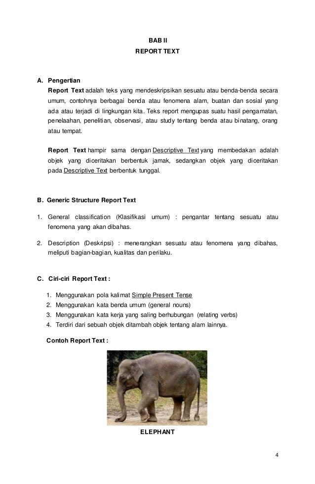 Teks Report Bahasa Inggris Beserta Artinya Berbagai Teks Penting