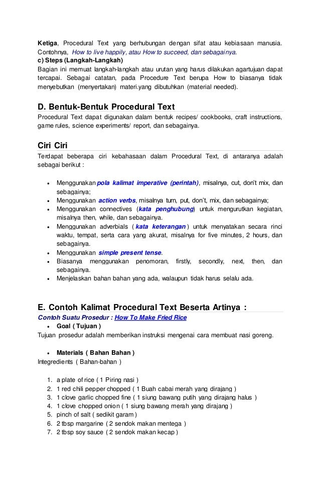 Makalah Procedure Text Dan Report Text V 2