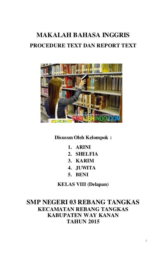 Makalah Procedure Text Dan Report Text V 3
