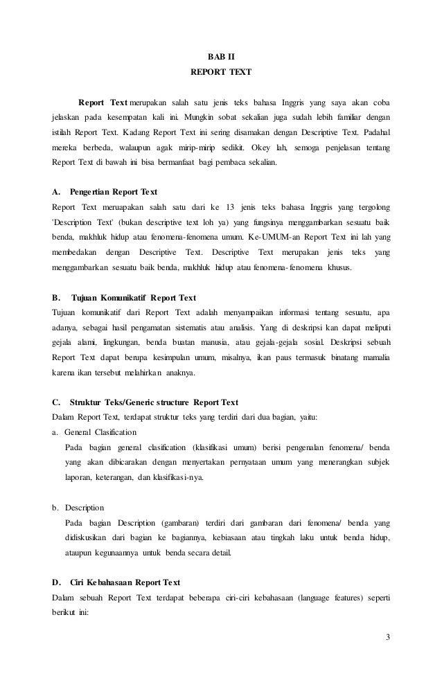 Contoh Teks Laporan Dalam Bahasa Inggris Kumpulan Contoh Laporan