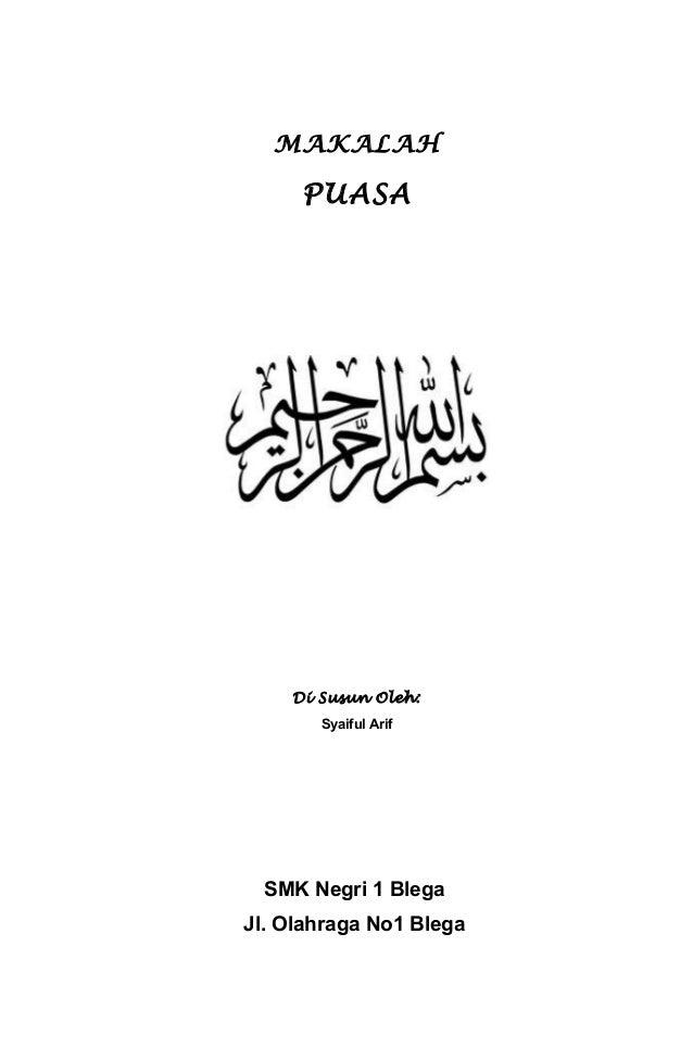 Makalah Puasa Ramadhan