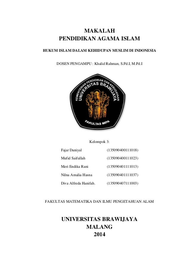 HUKUM ISLAM DALAM KEHIDUPAN MUSLIM DI INDONESIA