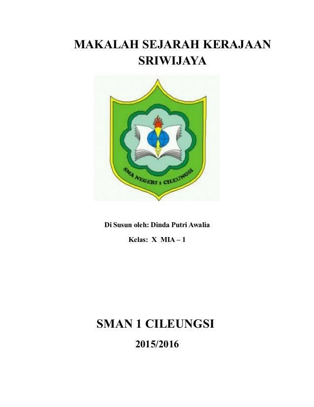 Makalah Sejarah Kerajaan Sriwijaya