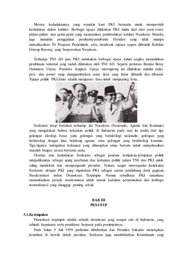 makalah sejarah sistem dan struktur politik dan ekonomi masa demokr