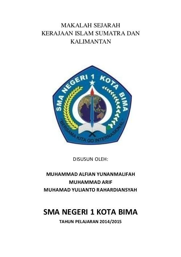 Makalah Sejarah Kerajaan Islam Di Pulau Kalimantan Sumatra