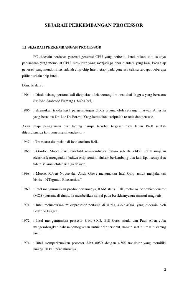 Makalah sejarah prosesor  Slide 2