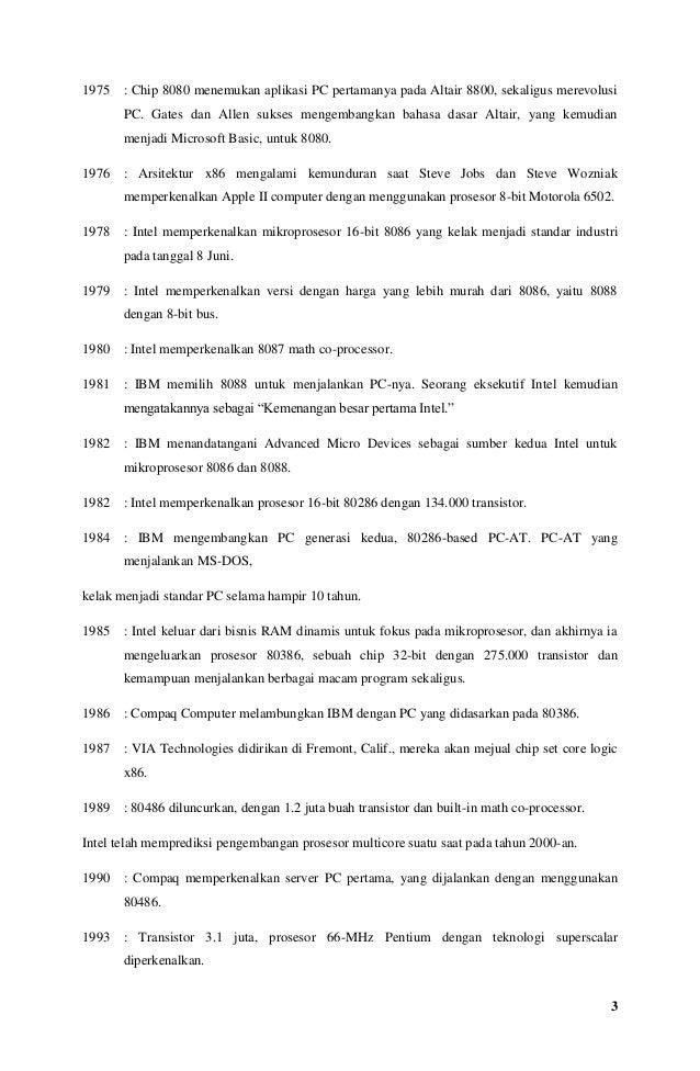 Makalah sejarah prosesor  Slide 3