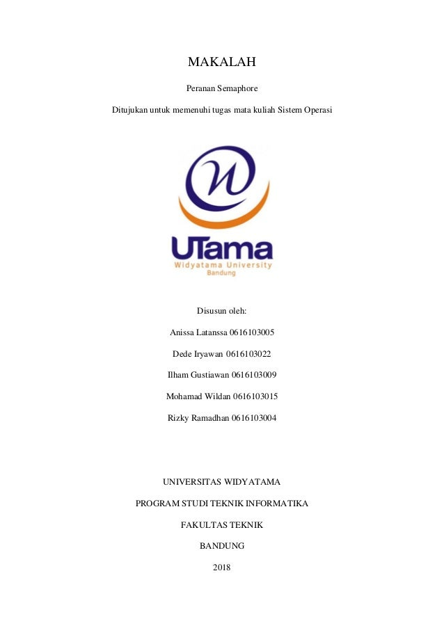Makalah Peranan Semaphore Sistem Operasi Universitas Widyatama
