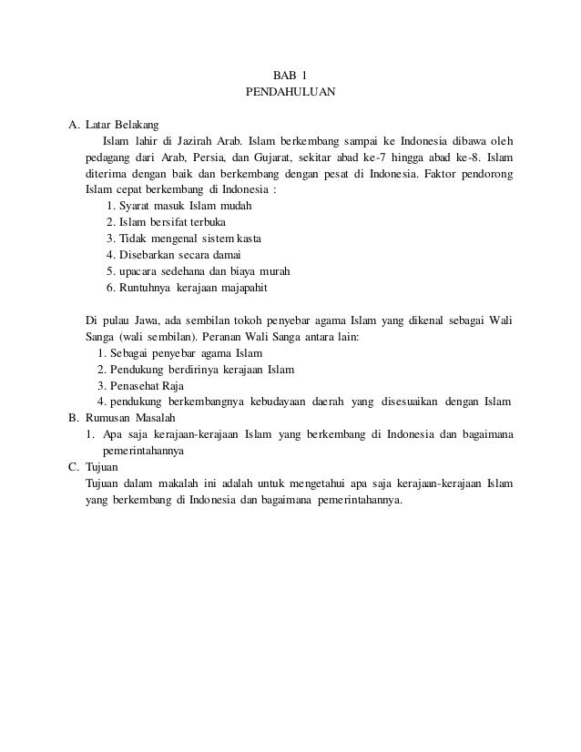 Makalah Kerajaan Kerajaan Islam Di Indonesia