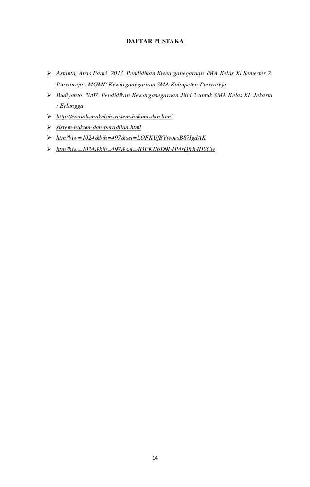 Contoh Daftar Pustaka Kelas Xi Contoh Ii