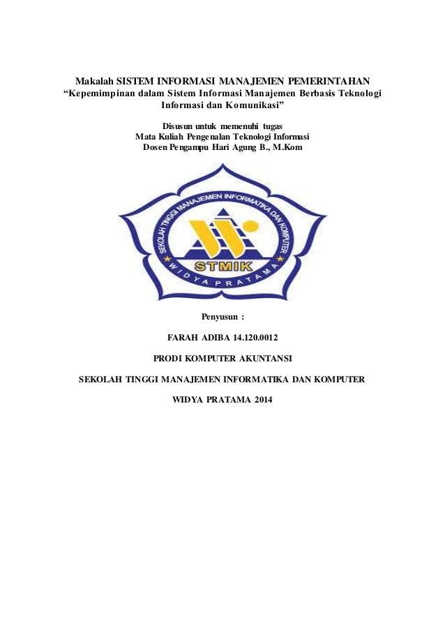 Makalah Sistem Informasi Manajemen Pemerintahan Pti