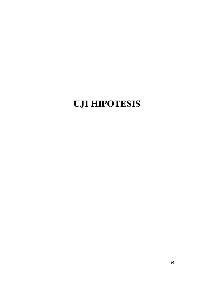 90 UJI HIPOTESIS