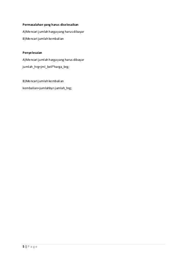Makalah Program Kasir Java Netbeans