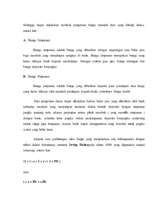 Makalah Suku Bunga Bank Indonesia