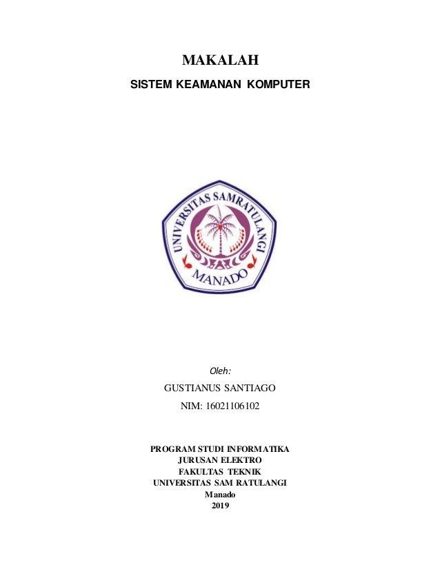 Makalah Tentang Keamanan Komputer