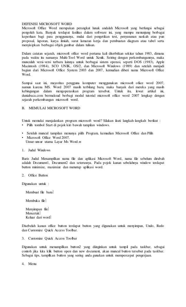 Makalah Tentang Microsoft Word 2007