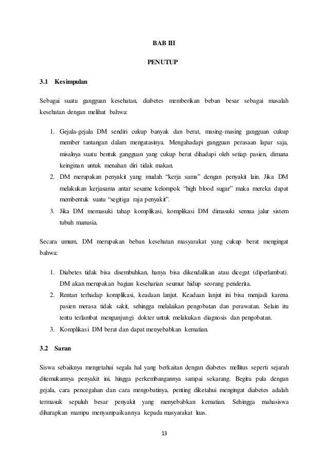 CONTOH MAKALAH KESEHATAN DENGAN JUDUL DIABETES MELLITUS TIPE 2