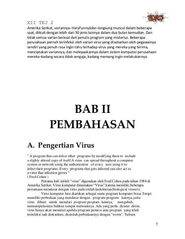 Contoh Makalah Virus Komputer