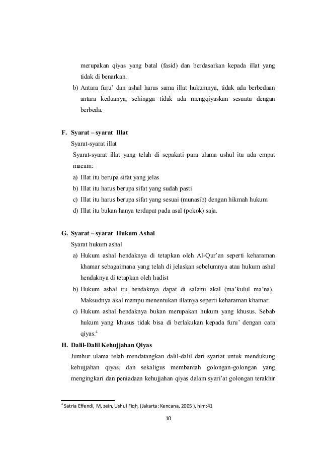 Makalah Tentang Qiyas Sebagai Sumber Hukum Islam