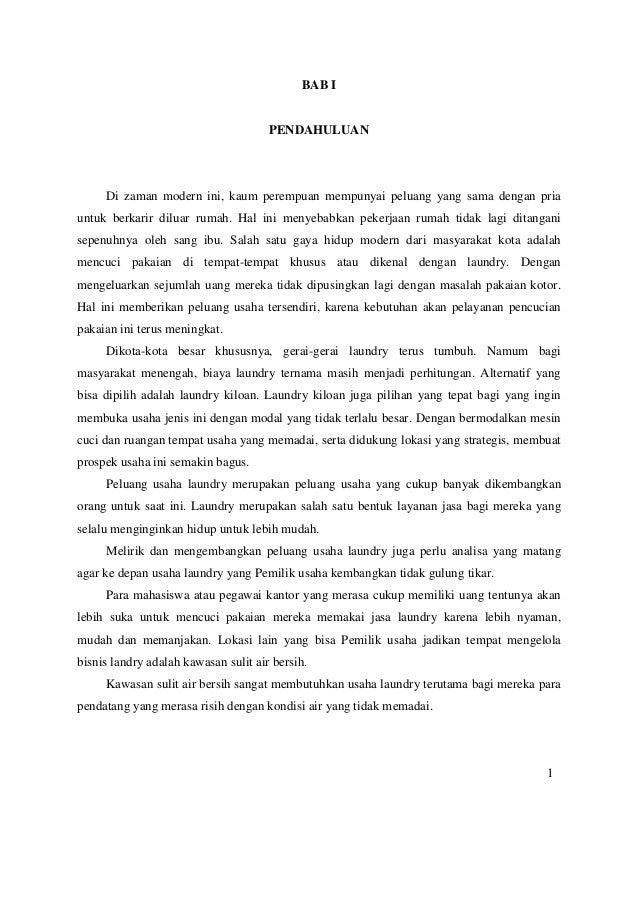 Contoh Proposal Studi Kelayakan Bisnis Laundry Pdf Berbagi Contoh Proposal