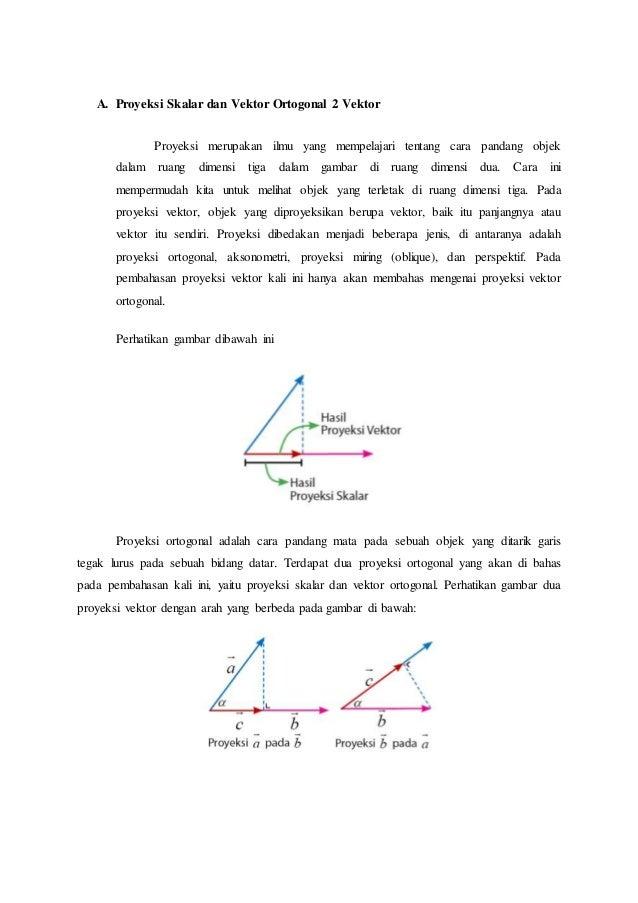 proyeksi skalar dan vektor ortogonal 2 vektor rh slideshare net