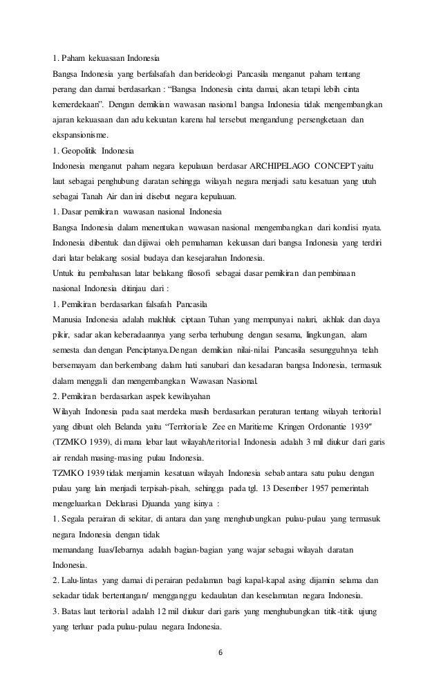 Makalah Wawasan Nusantara Dalam Globalisasi