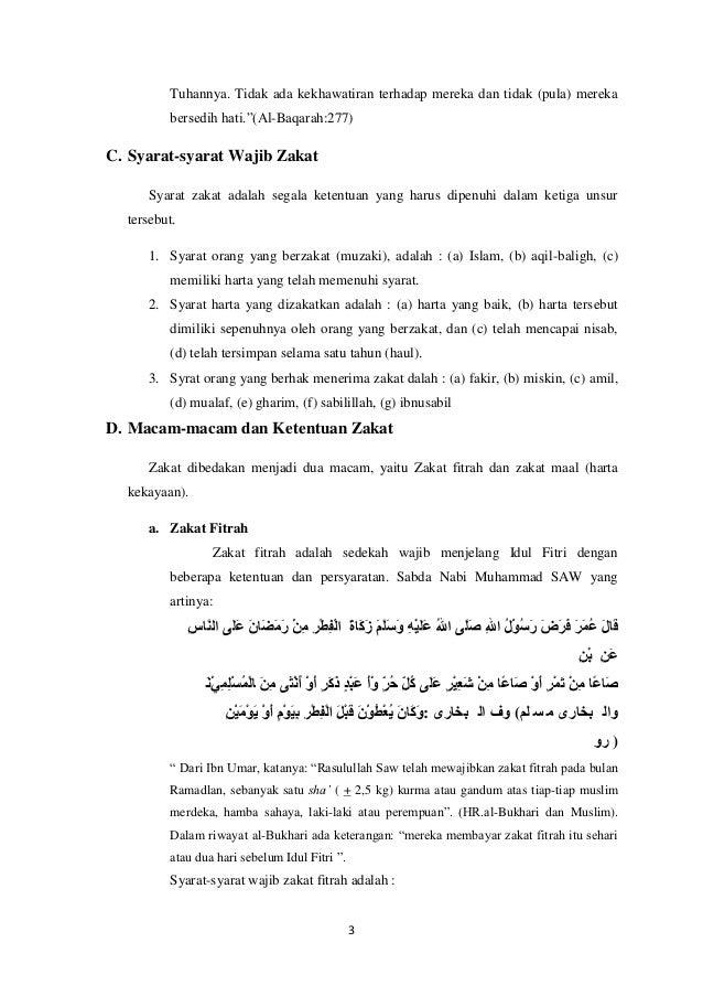 Makalah Zakat Fitrah Dan Zakat Mal Contoh Makalah