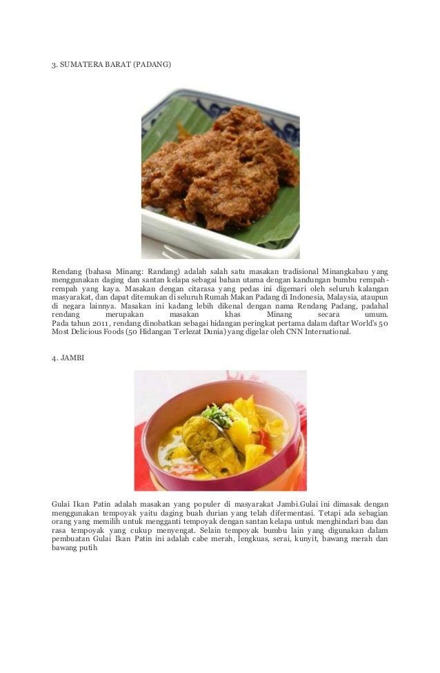 Ragam Makanan Makanan Khas Indonesia Dan Asalnya