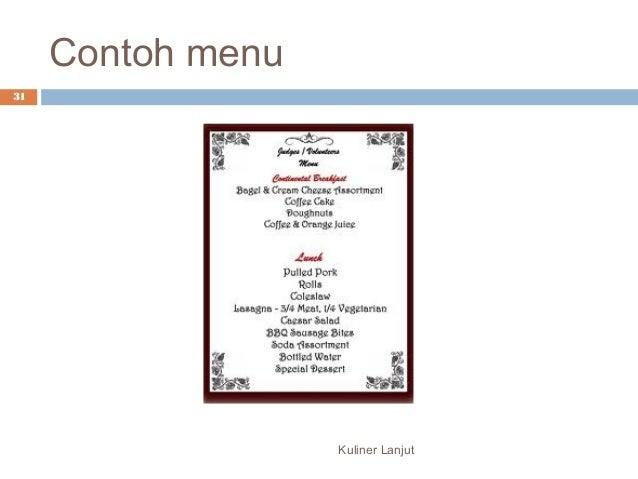 Contoh Eksposisi Resep Makanan Qintoh