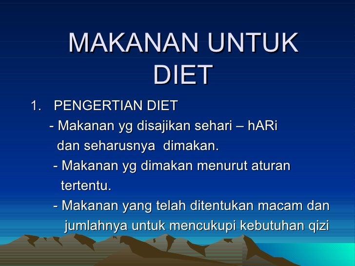 Pengertian Diet