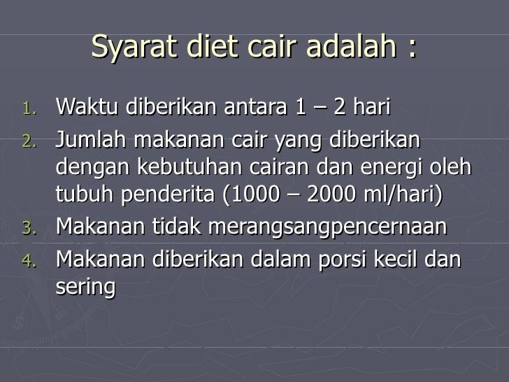 Diet Konsumsi Cair, Berani Coba?