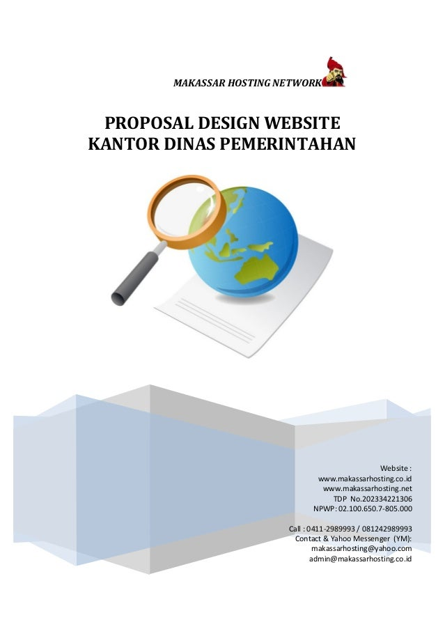 MAKASSAR HOSTING NETWORK  PROPOSAL DESIGN WEBSITE  KANTOR DINAS PEMERINTAHAN  Makassar Hosting Network  Website :  www.mak...