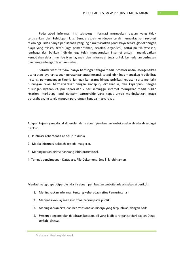 Kumpulan Proposal Gratis Contoh Proposal Pembuatan Website Desa