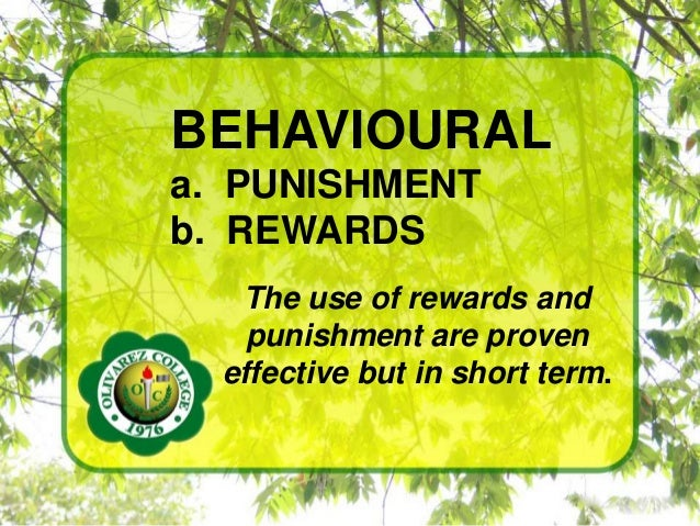 should rewards and punishments be used to motivate students learning essay Motivation through reinforcement, name: teachers guide motivation  of rewards and/or punishments is used to reinforce  to motivate students.