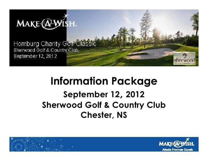 September 12 2012Sherwood Golf & Country Club         Chester, NS