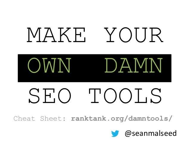 Make Your Own Damn SEO Tools (Using Google Docs!)